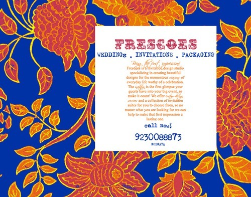 Fresceos wedding invitation card couture studio sale indian boutique