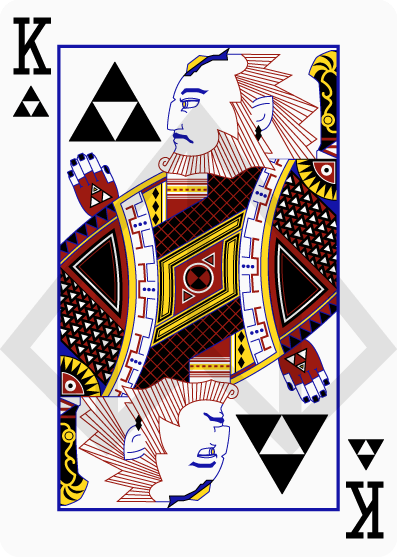 Zelda-Legend-Playing-Cards-by-Nelde-King-of-Clubs
