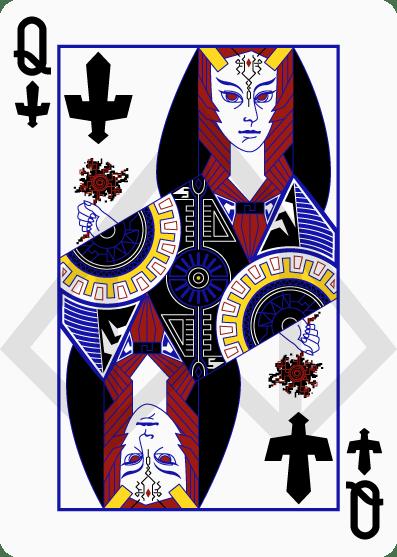 Zelda-Legend-Playing-Cards-by-Nelde-Queen-of-Spades