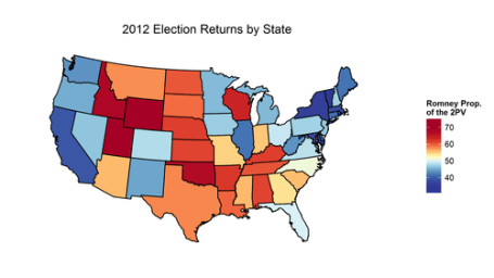 Make Your Own Electoral Map Rbloggers - Isarithmic map us voting