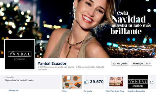 Empresa ecuatoriana en Facebook (Yanbal)