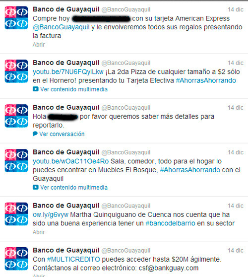 Banco de Guayaquil en Twitter