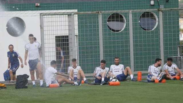 Suspendieron el entrenamiento de la Selección por lluvia