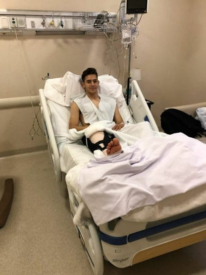 Rodrigo Márquez fue operado de su rodilla