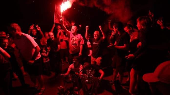 Los hinchas de Liverpool celebraron el campeonato