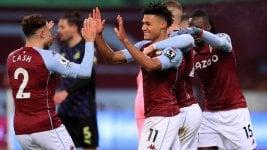 Premier League: Aston Villa beat Newcastle on a slope