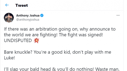 Joshua - Fury