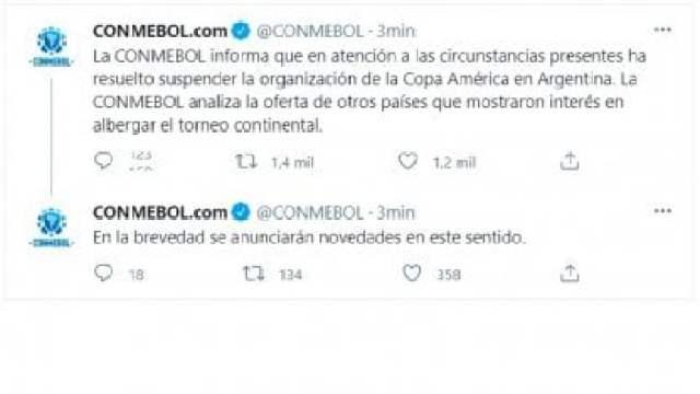 Tuit Conmebol