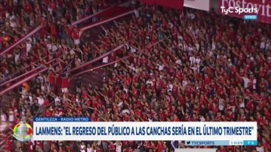 Covid-19 en Argentina: Matías Lammens adelantó que podría haber público en los estadios antes del 2022