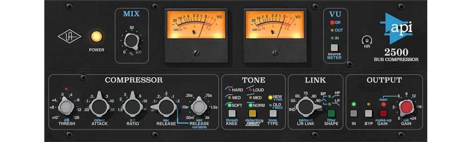 UAD API 2500 Bus Compressor Plug-In