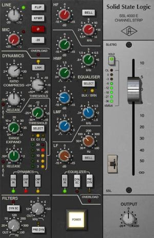 SSL 4000 E Channel Strip Collection | UAD Audio Plugins | Universal Audio