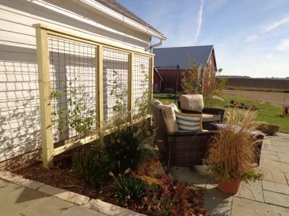 Plantings beds around patio