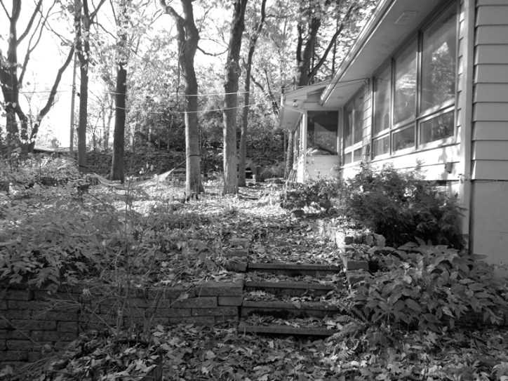 Oaks and Outcrop landscape renovation before photo