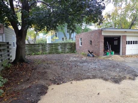 Backyard renovation in progress