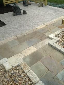 Bluestone walk with Limestone banding