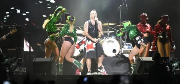 Carismático. El cantante británico Robbie Williams hizo vibrar al público paraguayo