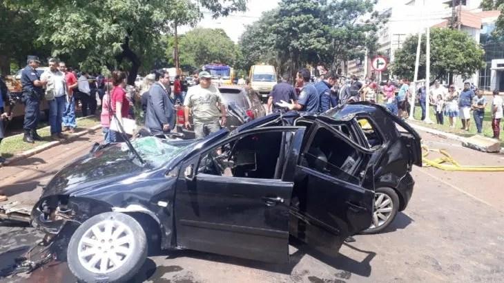 El grave accidente se registró camino al centro de Ciudad del Este