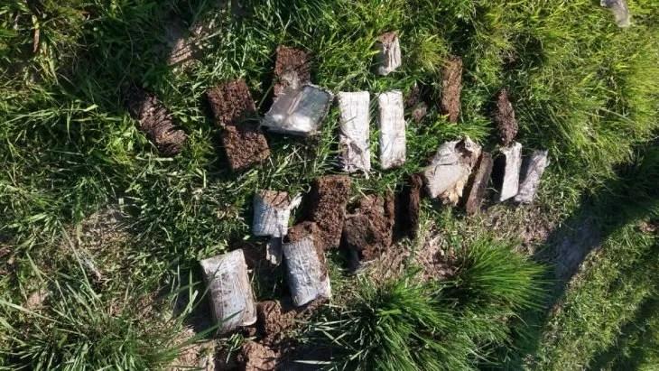 En total fueron encontrados 10 panes de marihuana
