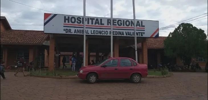 Fachada del Hospital Regional de Pedro Juan Caballero.