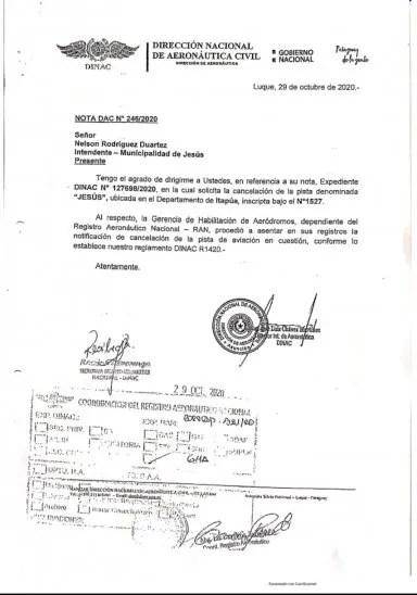 La Dinac canceló la licencia de operaciones de la aeropista.
