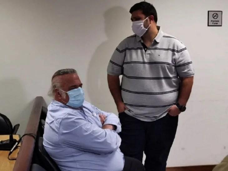 A juicio. Óscar González Daher y su hijo