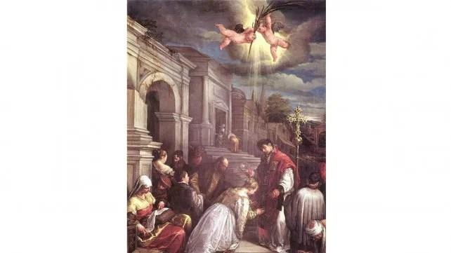 San Valentín celebrando un matrimonio a escondidas del emperador. Imagen: Wikipedia.