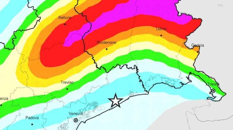Trema la terra nel Veneto, scossa di terremoto ad Eraclea: tutti i dati