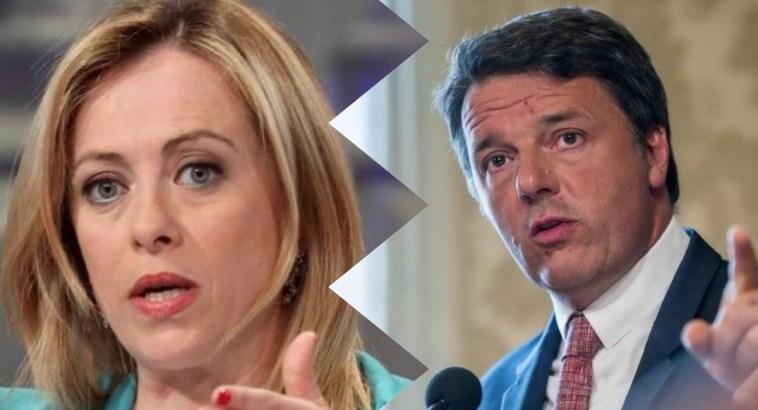 Meloni-Renzi botta e risposta a distanza: «Io bolla mediatica? Lui si è sgonfiato…»