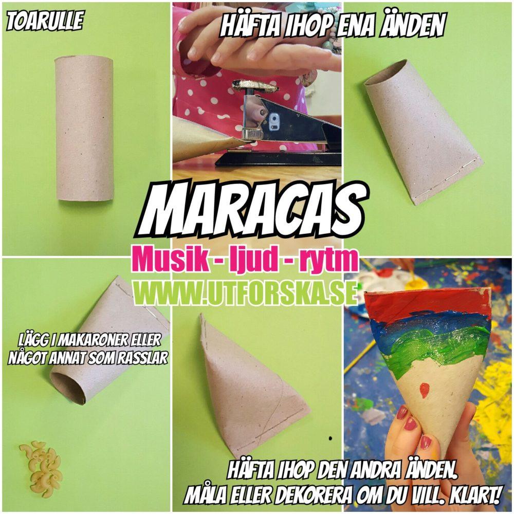 Utforska musik, ljud och rytm med maracas