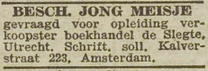Advertentie 1943