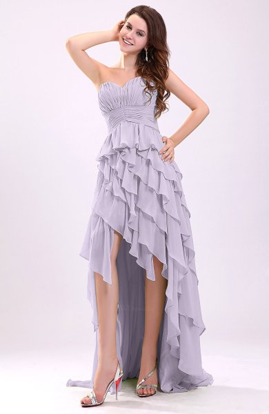Light Purple Gorgeous Sweetheart Lace up Chiffon Knee Length Wedding     Gorgeous Sweetheart Lace up Chiffon Knee Length Wedding Guest Dresses