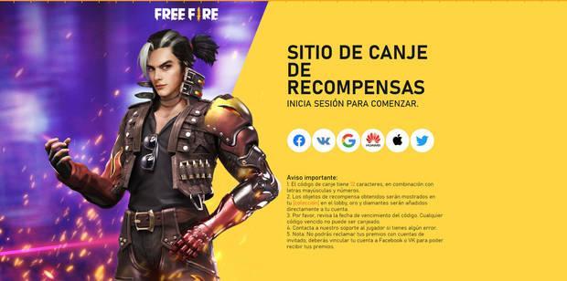 Free Fire - Cómo canjear códigos de Free Fire - Web oficial