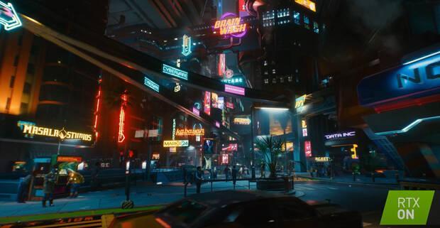 Ejemplo de iluminación en Cyberpunk 2077 con Ray Tracing