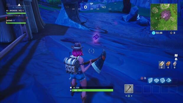 Fortnite Battle Royale - Usa una Piedra Sombra en diferentes partidas: aspecto de la Piedra Sombra
