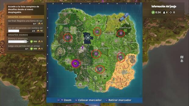 Fortnite Battle Royale - Visita todas las áreas corruptas: localización de todas las áreas corruptas