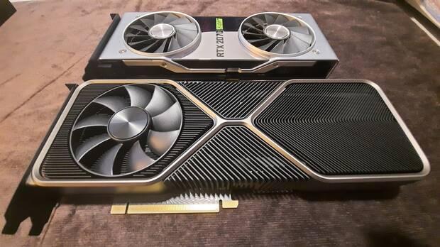 Primeras imágenes de la NVIDIA GeForce RTX 3080, comparamos su tamaño con la 2070 Super Imagen 4