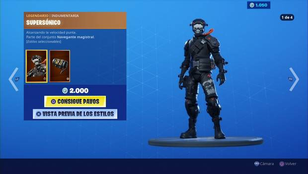 Fortnite - Skins: Supersónico
