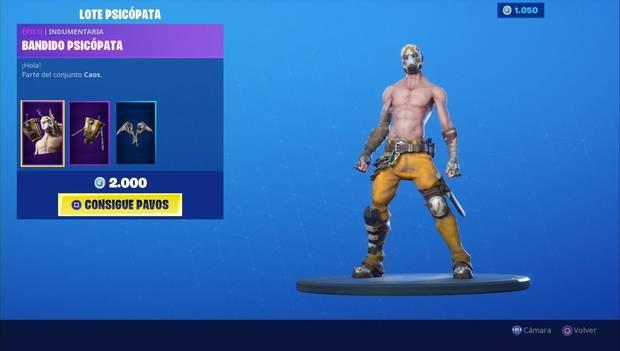 Fortnite - Skins: Bandido psicópata