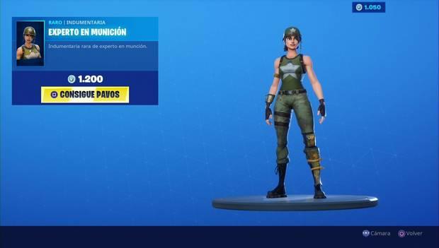 Fortnite - Skins: Experto en munición