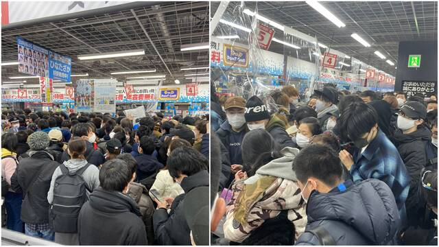 La policía interviene en Akihabara para disolver a las personas que querían una PS5