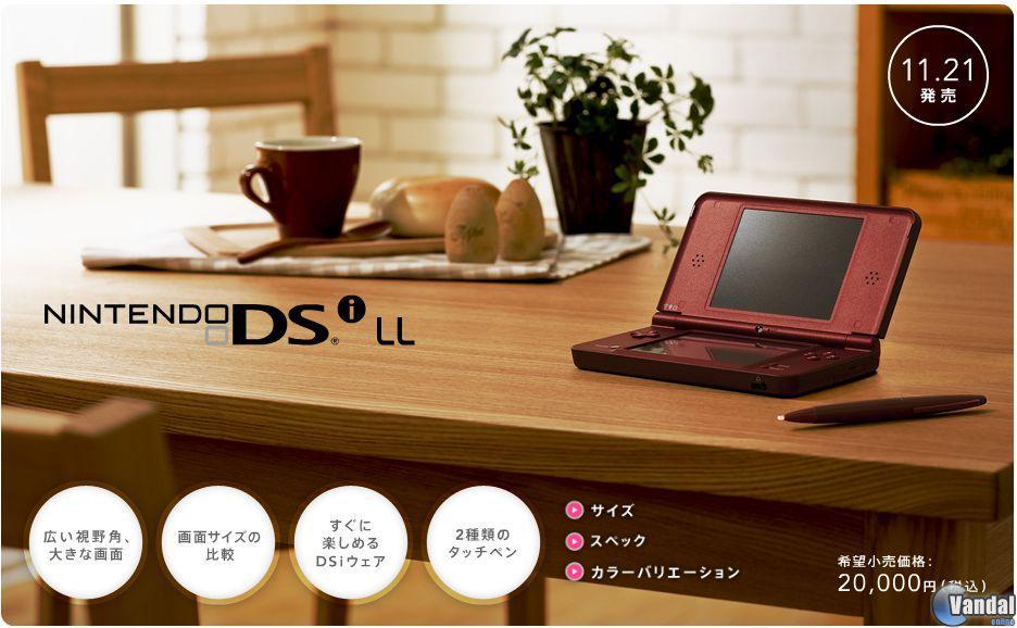 Nintendo anuncia la nueva Nintendo DSi con mayores pantallas