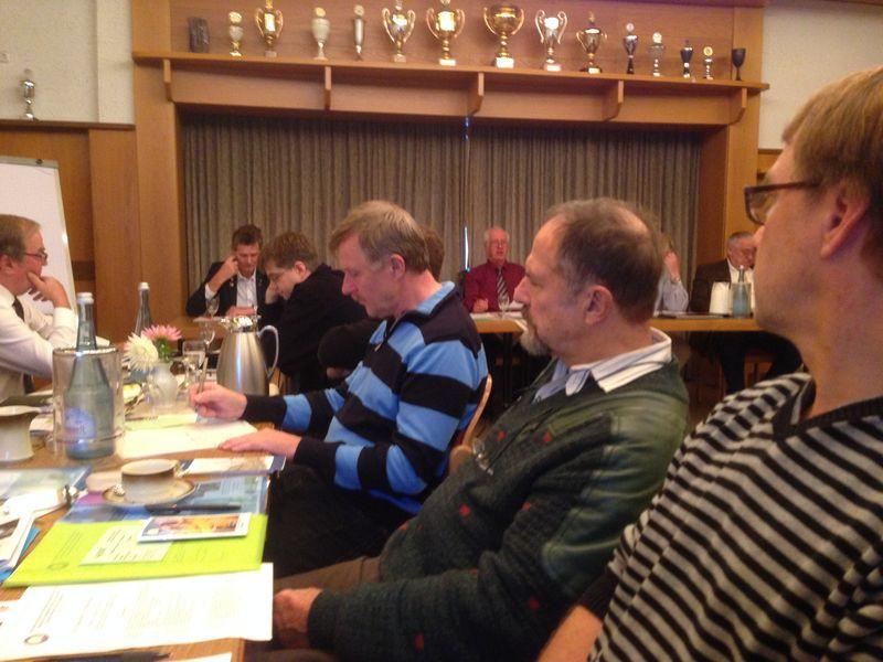 Den Svenska delegationen på EVG:S årsmöte.Mats Larsson, Juerg Ryckert och Håkan Hermansson, fattas på bild gör Helena Hermansson