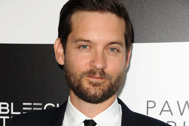 Tobey Maguire - baby face, suspect beard