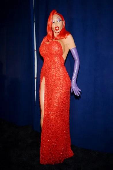 For her 2015 costume, Klum beat her own record, spending [nine hours](https://www.dailymail.co.uk/femail/article-3299910/Nine-hours-rubber-eyelids-fake-derriere-Heidi-Klum-reveals-REALLY-took-transform-cartoon-siren-Jessica-Rabbit.html) transforming herself into Jessica Rabbit.