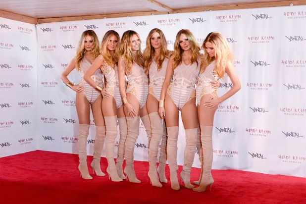 In 2016, Klum enlisted the help of five models, some wigs, and a bunch of prosthetics in order to clone herself.