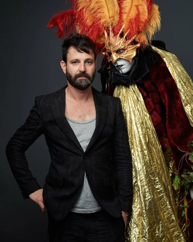 Simon Hammerstein and one of his performers