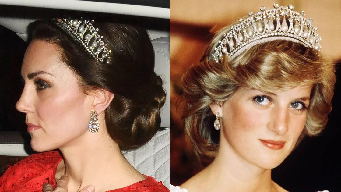 Kate Middleton Wears Princess Dianas Tiara For The Second