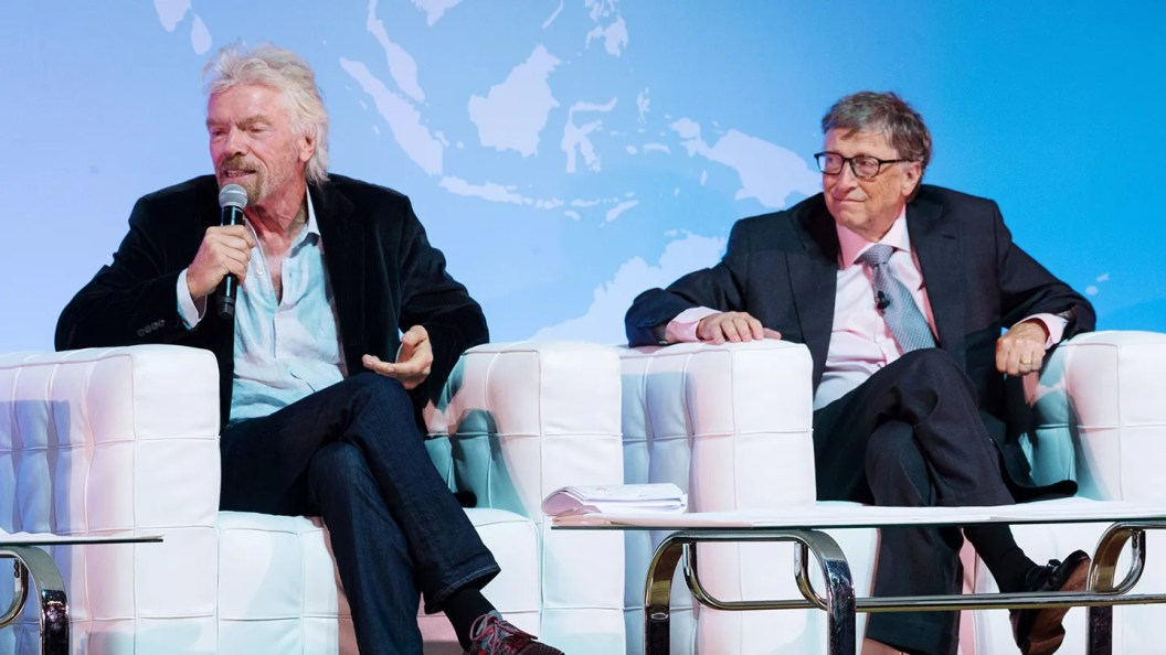 Resultado de imagen para richard branson and bill gates