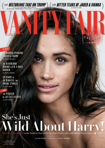 Cover Story  Meghan Markle  Wild About Harry    Vanity Fair For almost a year  rumors have flown about the romance between the  36 year old actress and Britain s 33 year old Prince Harry   the redheaded  hell raiser