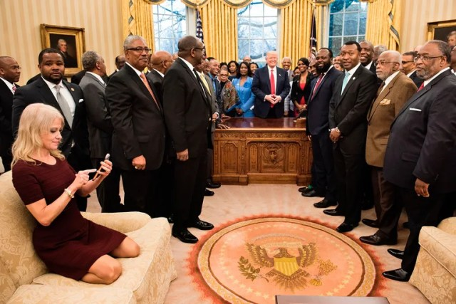 Kellyanne Conways quest for the perfect angle.